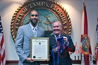 David was honored Tuesday for his AL CY Young Award the Keys to the City of Tampa