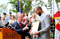 Tampa Mayor Buckhorn presented David & Astro keys to the city.