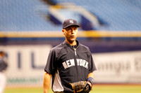 Jeter during BP.